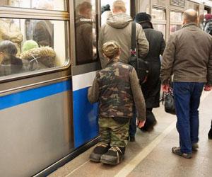 Нищих выдворят из метро!